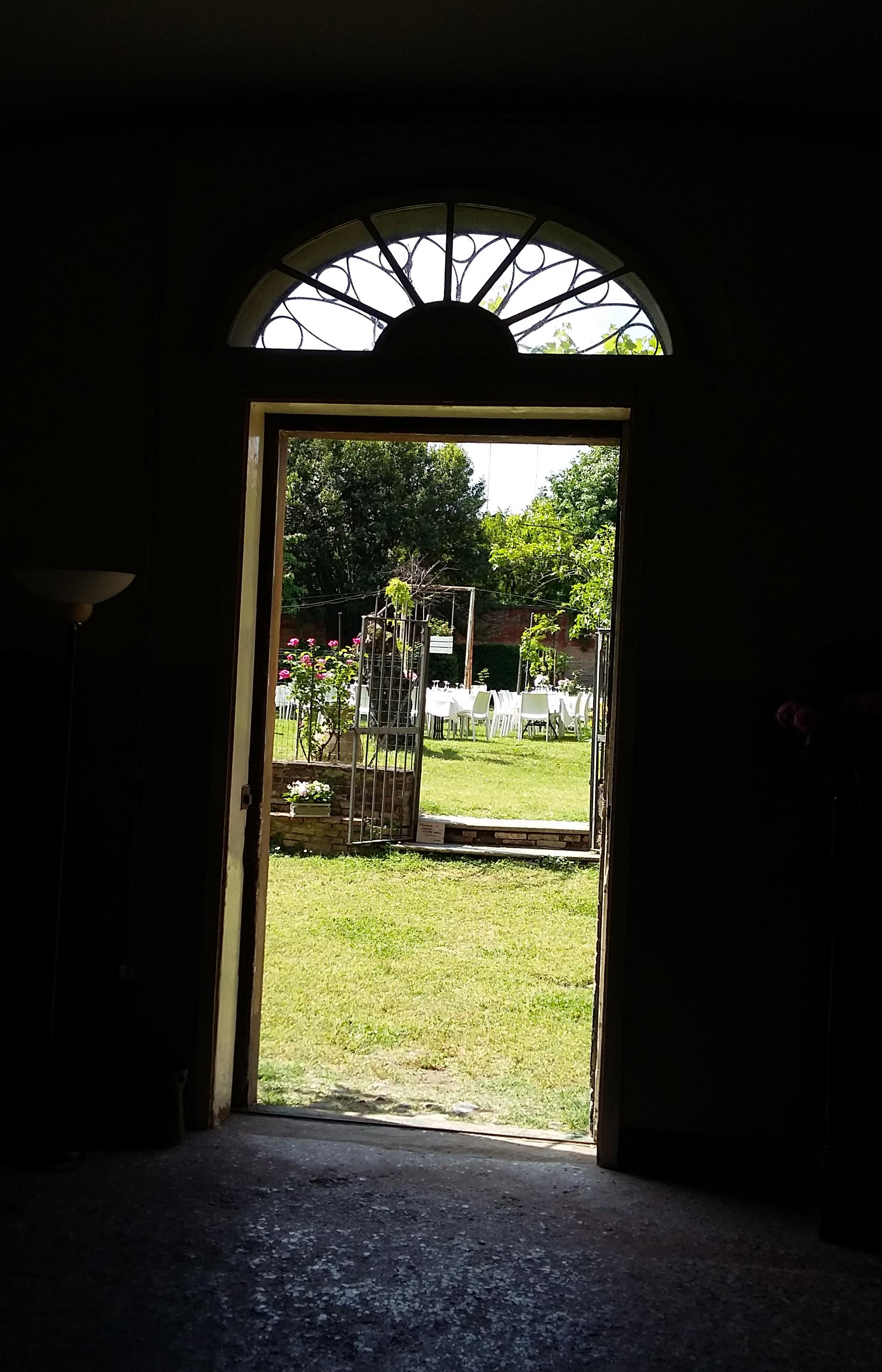 porta sul giardino